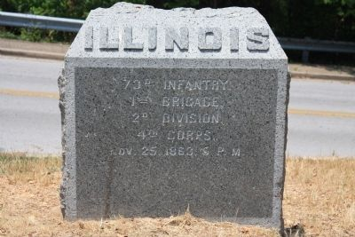 73rd Illinois Marker image. Click for full size.