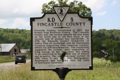 Fincastle County Marker image. Click for full size.