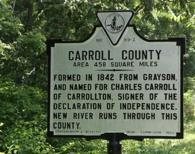 Carroll County / Wythe County Marker image. Click for full size.