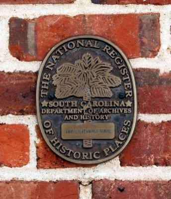 Gray Court Owings School National Register Medallion image. Click for full size.
