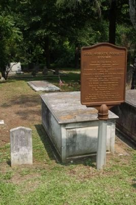 Joel Roberts Poinsett Marker, at graveside image. Click for full size.