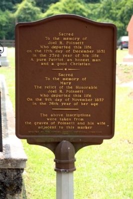 Joel Roberts Poinsett Marker reverse side image. Click for full size.