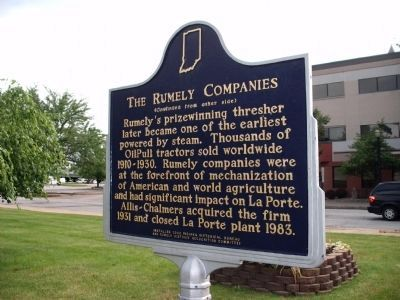 "Side 'Two"" - - The Rumely Companies Marker image. Click for full size."