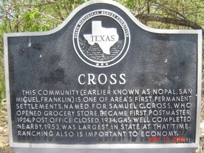 Cross Marker image. Click for full size.