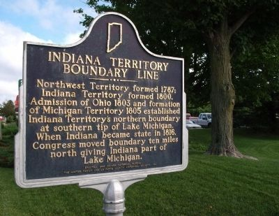 Side One - - Indiana Territory Boundary Line Marker image. Click for full size.