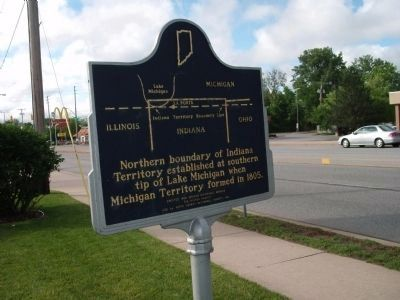 Side Two - - Indiana Territory Boundary Line Marker image. Click for full size.