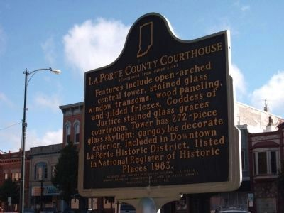 Side Two - - LaPorte County Courthouse Marker image. Click for full size.