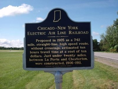 Chicago - New York Electric Air Line Railroad Marker image. Click for full size.