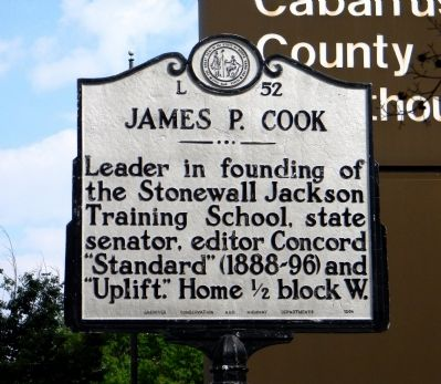 James P. Cook Marker image. Click for full size.
