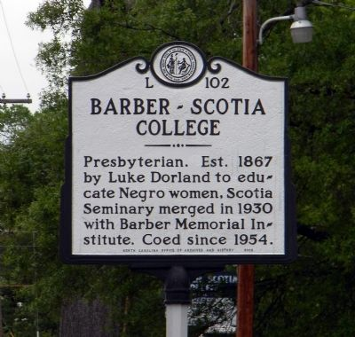 Barber-Scotia College Marker image. Click for full size.