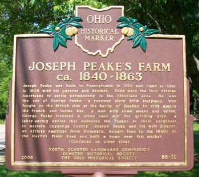 Joseph Peake's Farm Marker (Side A) image. Click for full size.