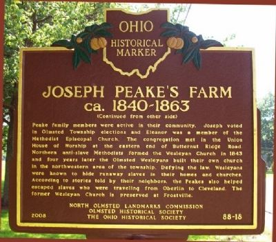 Joseph Peake's Farm Marker (Side B) image. Click for full size.