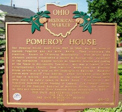 Pomeroy House Marker image. Click for full size.