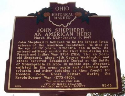 John Shepherd - An American Hero Marker (Side A) image. Click for full size.