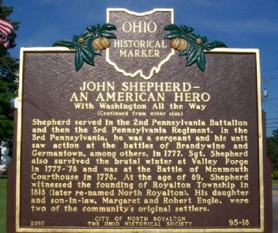 John Shepherd - An American Hero Marker (Side B) image. Click for full size.