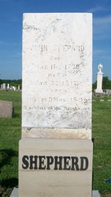 John Shepherd Headstone image. Click for full size.