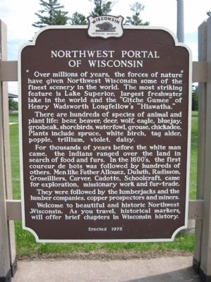 Northwest Portal of Wisconsin Marker image. Click for full size.