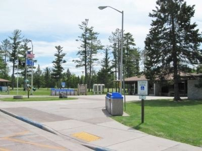 Marker and Rest Area image. Click for full size.