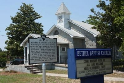 Bethel Baptist Church Marker image. Click for full size.