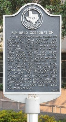 A. H. Belo Corporation Marker image. Click for full size.