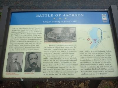 Battle of Jackson Marker image. Click for full size.