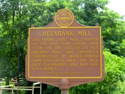 Greenbank Mill Marker image. Click for full size.