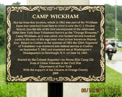 Camp Wickham Marker image. Click for full size.