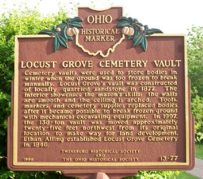Locust Grove Cemetery Vault Marker image. Click for full size.
