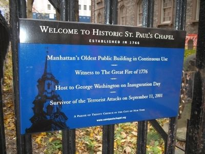 Historic St. Paul's Chapel Marker image. Click for full size.