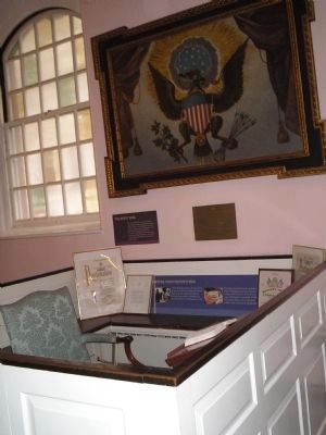 George Washington's Pew image. Click for full size.
