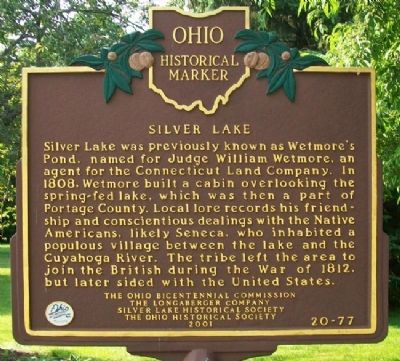 Silver Lake Marker (Side A) image. Click for full size.