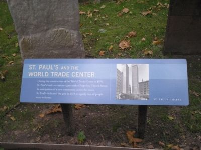 St. Paul's and the World Trade Center Marker image. Click for full size.