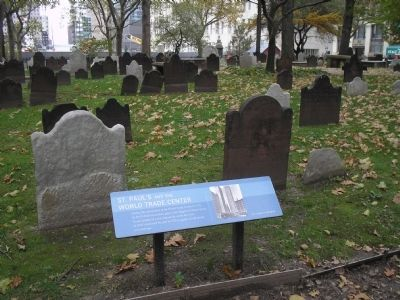 Marker in the St. Paul's Churchyard image. Click for full size.