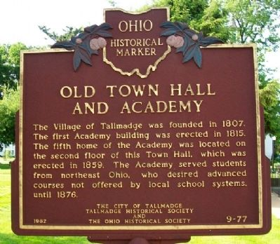 Old Town Hall and Academy Marker image. Click for full size.