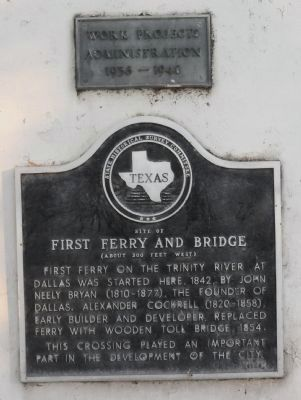 First Ferry and Bridge Marker image. Click for full size.