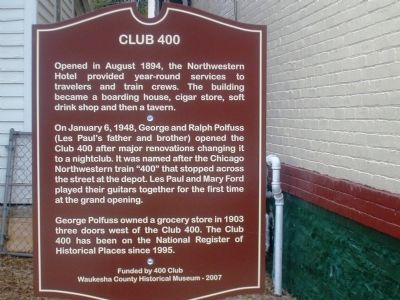 Club 400 Marker image. Click for full size.