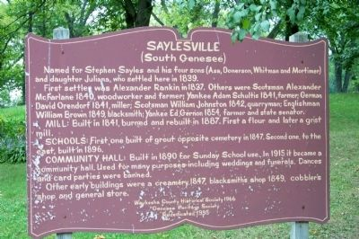 Saylesville (South Genesee) Marker image. Click for full size.