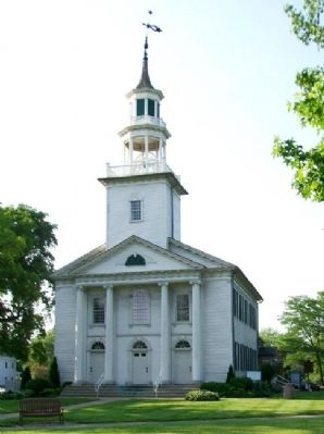 First Congregational Church and Marker image. Click for full size.