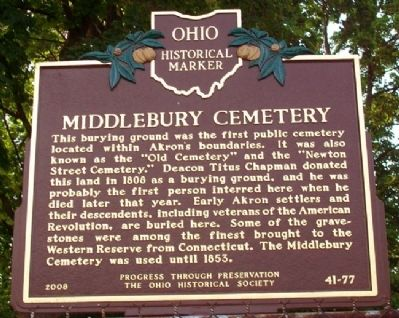 Middlebury Cemetery Marker image. Click for full size.
