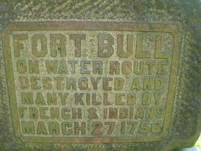 Fort Bull Marker image. Click for full size.