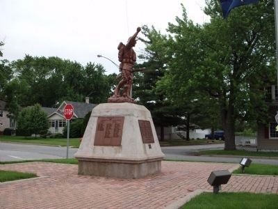Full Left View - - Hobart (Indiana) Patriotic Honor Rolls Marker image. Click for full size.