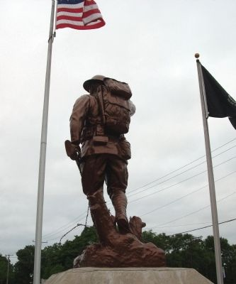 Obverse View - - Doughboy Statue image. Click for full size.