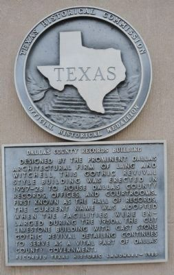Dallas County Records Building Marker image. Click for full size.