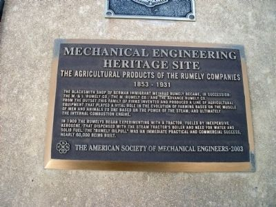 Lower Middle Plaque - - Mechanical Engineering Heritage Site image. Click for full size.