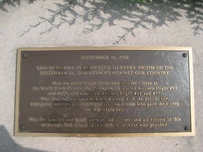 Morris County 9/11 Memorial Marker image. Click for full size.