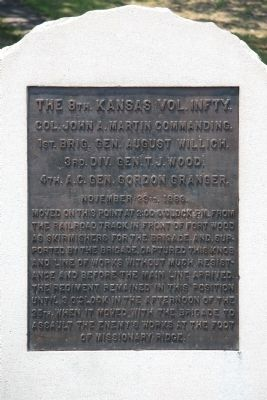 The 8th. Kansas Vol. Infty., Marker image. Click for full size.