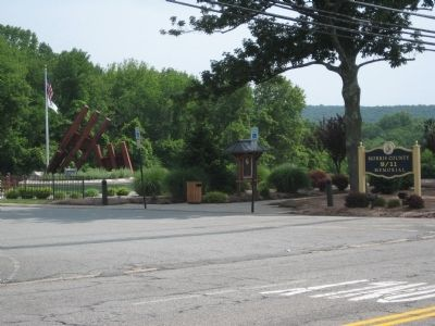 Morris County 9/11 Memorial - as seen from the road image. Click for full size.