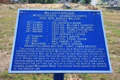 Willich's Brigade. Marker image. Click for more information.