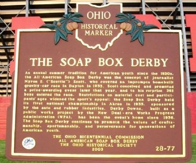 The Soap Box Derby Marker image. Click for full size.