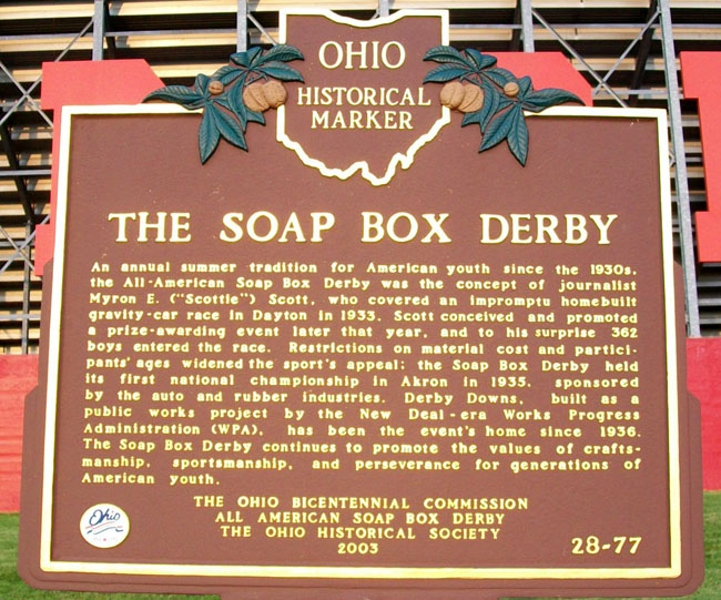 The Soap Box Derby Marker
